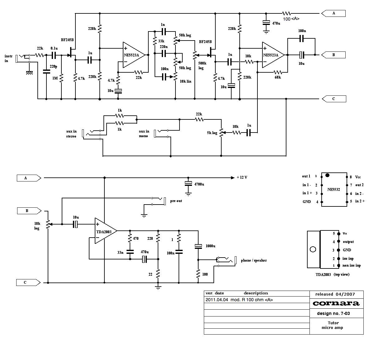 Schema Elettrico Amplificatore Per Basso : Amplificatore tutor per basso pagina costruire hifi