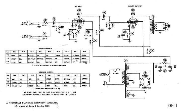 Schemi Elettrici Effetti Chitarra : Schemi elettrici amplificatori audio